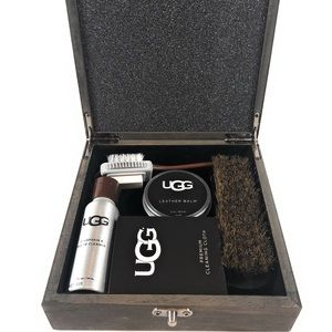 UGG SHEEPSKIN SUEDE LEATHER CARE KIT WOODEN BOX
